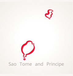 Sao tome and principe - outline map vector