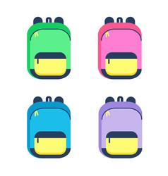 schoolbag cartoon colorful vector image