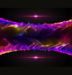 science fiction cosmic space fantastic planet 3d vector image