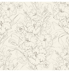 seamless pattern beautiful fresh iris flowers vector image