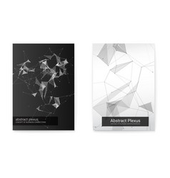 set of geometric poster vector image