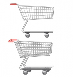 Shopping cart vector illustration vector