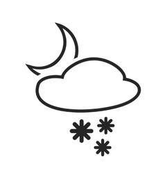 Sleet shower night heavy snow in evening vector