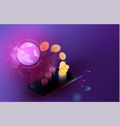 smart security credit cards controls futuristic vector image