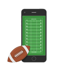 smartphone american football field vector image