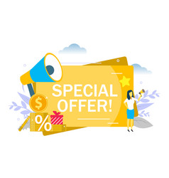 special offer announcement flat style vector image
