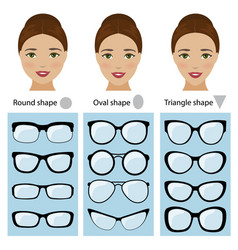 spectacle frames for women face shapes vector image