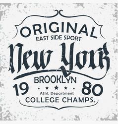 sport wear typography emblem t-shirt stamp vector image