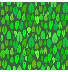 Summer Seamless Different Leaves Pattern vector image