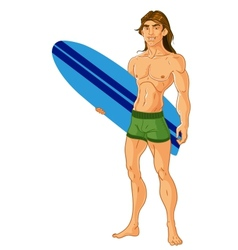 Surf-riding man vector
