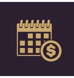The pay day icon Tax and payment dividends vector