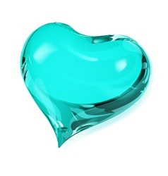 Turquoise heart vector