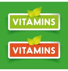 vitamins label set vector image