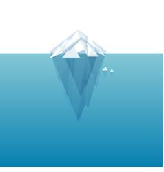 white tip ice mountain vector image