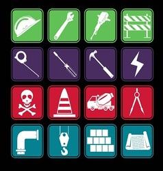Construction Icon Set Basic Style vector image