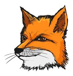 fly fox vector image vector image