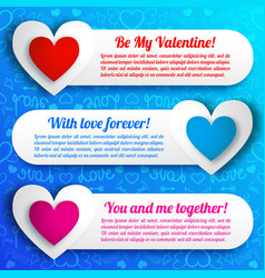 greeting amorous horizontal banners vector image vector image