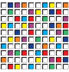 Seamless Pattern with Colorful Squares vector image vector image