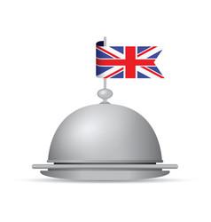 uk flag dinner platter vector image vector image