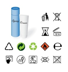 Warning signs environmental signs product vector image