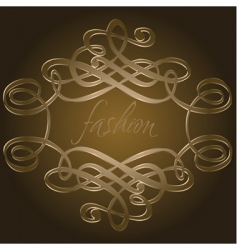 calligraphy curves vector image vector image