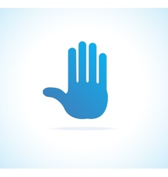 Hand stop icon vector image