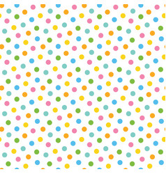 pattern background with colorful dots confetti vector image vector image