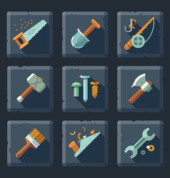 Tools and supplies vector image vector image