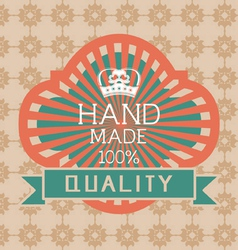 Vintage label Style with Design Element vector image vector image