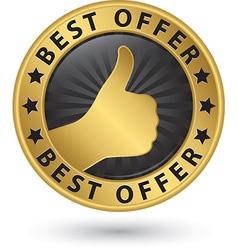 Best offer golden label vector image