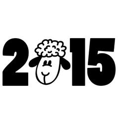 New 2015 year card with cartoon sheep vector image vector image