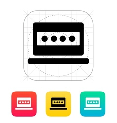 Password in laptop icon vector image vector image