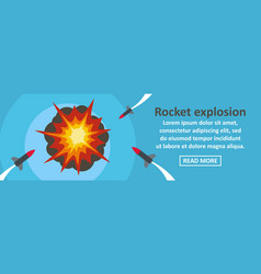 rocket explosion banner horizontal concept vector image