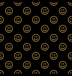 smile line icon pattern vector image vector image