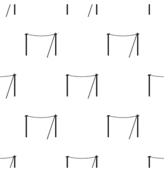 Tightrope icon in black style isolated on white vector image vector image