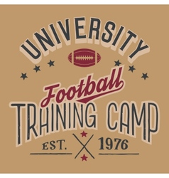 University football training camp vector image vector image