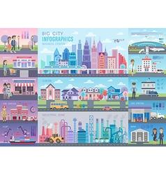 Big City Infographic set vector image vector image