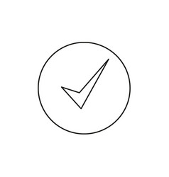 checked success icon vector image