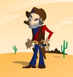Cowboy in the desert vector image