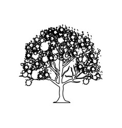 figure trees with some leaves icon vector image vector image