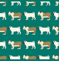 funny cartoon bulldog dog character bread seamless vector image