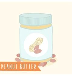 Peanut butter in jar vector image