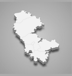 3d isometric map artsakh after 2020 isolated vector