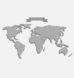 3d world map vector image