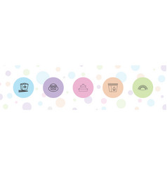 5 japanese icons vector