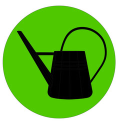 a silhouette watering can vector image