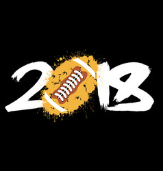 abstract number 2018 and football vector image