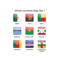 African countries flags set 1 vector image