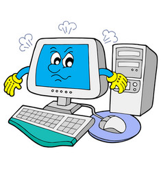 angry computer vector image