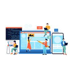 app development web page content management vector image